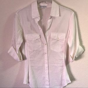 James Perse white Shirt with buttons